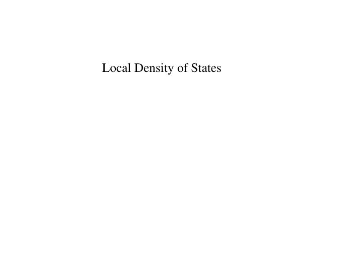 Local Density of States