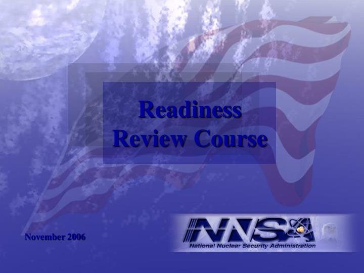 readiness review course n.