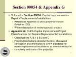 section 00054 appendix g