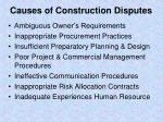 causes of construction disputes