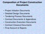 composition of project construction documents