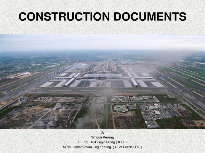 construction documents n.