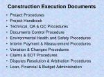 construction execution documents