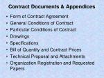 contract documents appendices