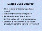 design build contract