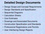 detailed design documents