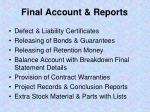 final account reports