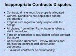 inappropriate contracts disputes