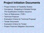 project initiation documents