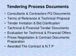 tendering process documents