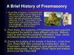 a brief history of freemasonry