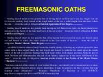 freemasonic oaths