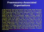 freemasonry associated organisations