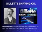 gillette shaving co
