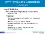 arrhythmias and conduction disorders1