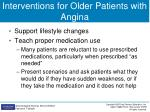interventions for older patients with angina