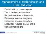 management of hypertension and risk reduction