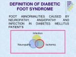 definition of diabetic foot syndrome