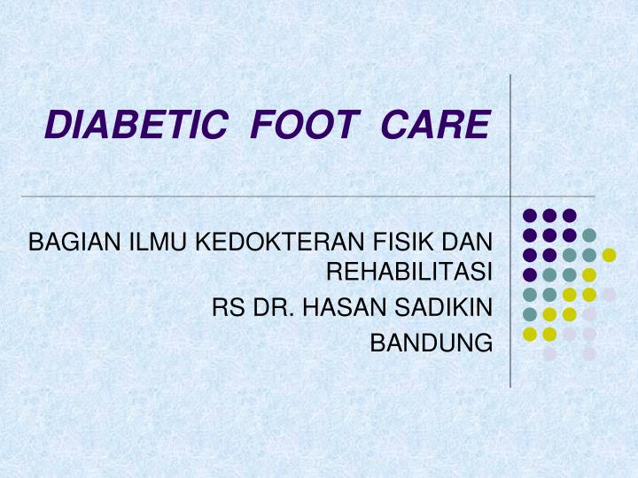 diabetic foot care n.