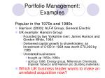 portfolio management examples