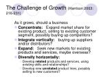 the challenge of growth harrison 2003 216 231