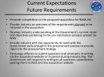 current expectations future requirements