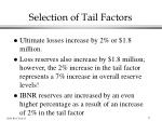 selection of tail factors1