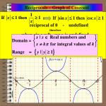 reciprocals graph of cosecant