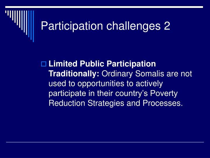 Participation challenges 2