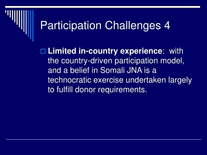 Participation Challenges 4