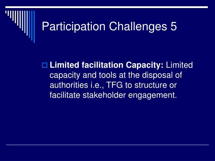Participation Challenges 5