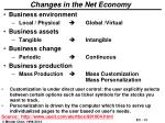 changes in the net economy
