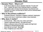 elevator pitch1