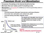 freemium model and monetization