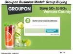 groupon business model group buying