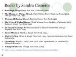 books by sandra cisneros