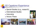 gs capstone experience