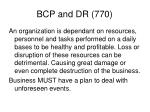 bcp and dr 770