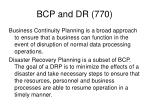 bcp and dr 7701