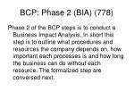bcp phase 2 bia 778