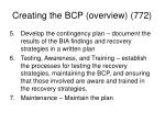 creating the bcp overview 772