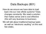 data backups 801