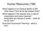 human resources 799