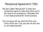 reciprocal agreement 793
