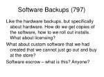 software backups 797
