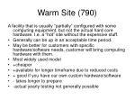 warm site 790