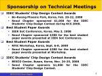 sponsorship on technical meetings