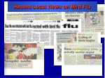 recent local news on bird flu