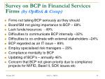 survey on bcp in financial services firms by oprisk comp