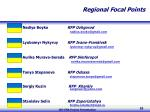 regional focal points